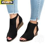 Black Women Wedge Fish Mouth Sandals With Buckle   Shoes for sale in Western Region, Shama Ahanta East Metropolitan