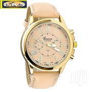 Champagne Unisex Leather Analog Wrist Watch | Watches for sale in Western Region, Shama Ahanta East Metropolitan