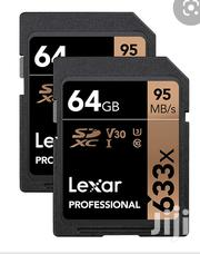 Lexar Professional 633x 64GB SDXC UHS-I Card 4k | Cameras, Video Cameras & Accessories for sale in Greater Accra, Asylum Down