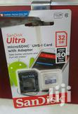Sandisk 32gb Ultra Micro SD Card (SDXC) UHS-I + Adapter - | Accessories for Mobile Phones & Tablets for sale in Asylum Down, Greater Accra, Ghana