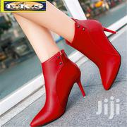 Red Thin Heel Leather Boots | Shoes for sale in Western Region, Shama Ahanta East Metropolitan