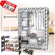 Black/White Portable Wardrobe | Furniture for sale in Greater Accra, Kotobabi
