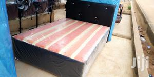 Comfortable Double Leather Bed