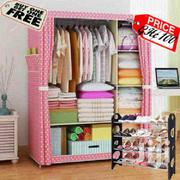 Pink Double Portable Wardrobe | Furniture for sale in Greater Accra, Kotobabi