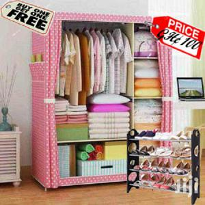 Pink Double Portable Wardrobe