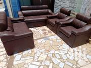 Deep Cofe Leather Set For Sell | Furniture for sale in Greater Accra, East Legon