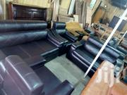 Pure Black Sofa Set for Individuals and Corporate Oganisations | Furniture for sale in Greater Accra, Kwashieman