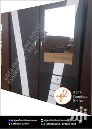 Black and White Wardrobe for Sell. Free Delivery | Furniture for sale in Greater Accra, Adenta Municipal