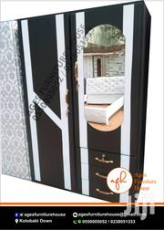 Black Wardrobe With a Touch of White for Sell | Furniture for sale in Greater Accra, East Legon
