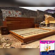Quality Wooden Queen Size Bed | Furniture for sale in Greater Accra, Kanda Estate