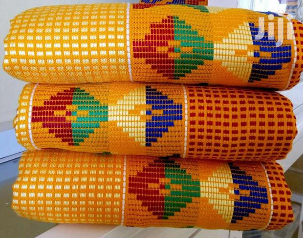 Yellow Latest Kente Design. In