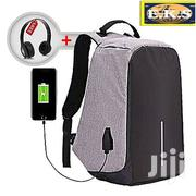 Grey Anti-Theft Laptop Bag + Free Headset | Bags for sale in Western Region, Shama Ahanta East Metropolitan