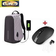 Grey Anti-Theft Multi-Functional Backpack + Free Wireless Mouse | Bags for sale in Western Region, Shama Ahanta East Metropolitan