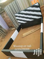 Black and White Leather Bed | Furniture for sale in Greater Accra, Kotobabi