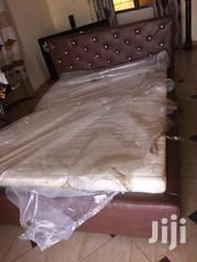 Cofé Colored Double Bed With Matreas for Sell Witj Free Delivery | Furniture for sale in Greater Accra, Dansoman