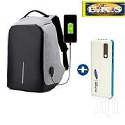 Gray Anti-Theft Waterproof Multi-Functional Backpack + Free Power Bank | Bags for sale in Western Region, Shama Ahanta East Metropolitan