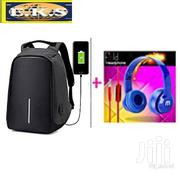 Black Anti-Theft Laptop Bag + Free Blue Headphone | Bags for sale in Western Region, Shama Ahanta East Metropolitan
