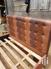 Authentic Leather Bed at a Cool Price.   Furniture for sale in Greater Accra, Ashaiman Municipal