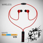 Flex V25 Best Wireless Sports Earphones With Mic HD Stereo | Headphones for sale in Greater Accra, Achimota