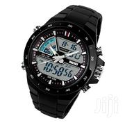 SKMEI 1016 Men's Waterproof Analog + Digital Sports Watch - Black | Watches for sale in Greater Accra, Accra Metropolitan