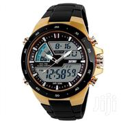 Skmei 1016-gold Chronograph Analog-digital Watch - Gold/Black | Watches for sale in Greater Accra, Accra Metropolitan