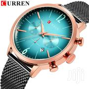 CURREN Luxury Mens Chronograph Analog Mesh Strap Stainless Steel Watch | Watches for sale in Greater Accra, Accra Metropolitan