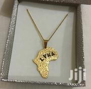 Customised Stainless Gold Map Necklace | Jewelry for sale in Greater Accra, Teshie-Nungua Estates