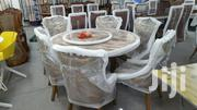 Movable Round Dinning Set With Six Chairs | Furniture for sale in Greater Accra, Ledzokuku-Krowor