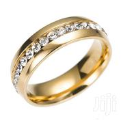 Never Fading Gold Plated Ring With Diamonds. Size 9 | Jewelry for sale in Greater Accra, Adenta Municipal