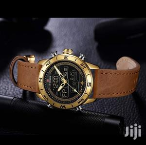 Naviforce 9144 Multifunction Leather Watch