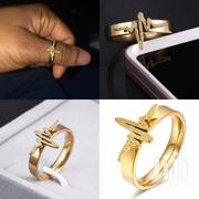 Stainless Steel Frosted Golden Ring | Jewelry for sale in Greater Accra, Odorkor