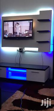Led Lights TV Stand With Wooden Wall Mount | Furniture for sale in Greater Accra, Accra Metropolitan