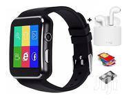 X6 Smart Watch + I7s-tws Twin Bluetooth Wireless Earbuds | Smart Watches & Trackers for sale in Greater Accra, Tema Metropolitan