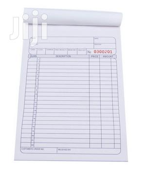 Carbonated Sheets Of Sales Invoice Books