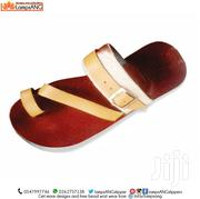 Men Slippers, Pure Leather Fur Braced Strap | Shoes for sale in Eastern Region, Asuogyaman