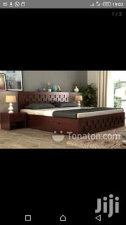King Size Bed With Two Side Shelves | Furniture for sale in Greater Accra, Adenta Municipal