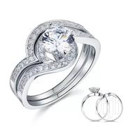 2 Pcs Orisilver Sterling Silver Wedding Ring | Jewelry for sale in Greater Accra, Adabraka