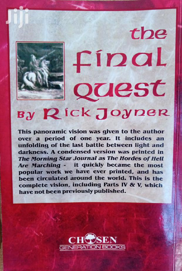 Archive: The FINAL QUEST Book By Rick Joyner Just Place An Order