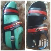 Red and Black Leather Sandals | Shoes for sale in Greater Accra, New Mamprobi