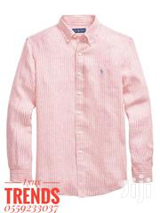 Stripes Oxford Polo Ralph Lauren Men's Long Sleeve Shirt | Clothing for sale in Greater Accra, Nungua East