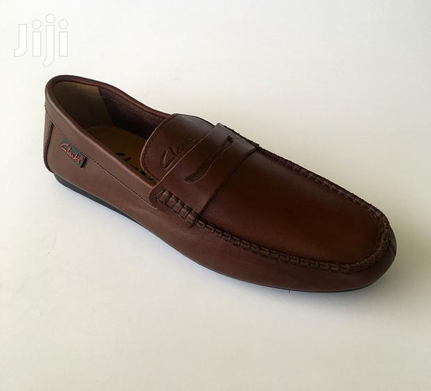 Archive: Original Clarks Brown Soft Leather Loafers Shoe