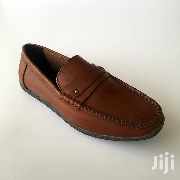 Archive: Original Polo Brown Leather Loafers Shoe