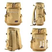 Quality Cream Khaki Leather Backpack | Bags for sale in Greater Accra, Kokomlemle