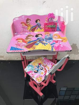 Childrens Learning Desk N Chair With Cartoons