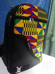 Quality Kente + Black Leather Backpack | Bags for sale in Greater Accra, Achimota