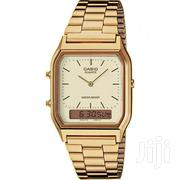 Casio Stainless Steel Digital Analog Watch- Gold/Cream   Watches for sale in Greater Accra, Achimota