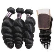 "Vietnam Loose Bounce Human Hair Weave + Closure - 3 Pieces -16""- 