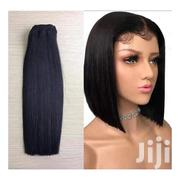 Blunt Cut Mongolian Human Hair Wig-10 Inches- Black | Hair Beauty for sale in Greater Accra, Achimota