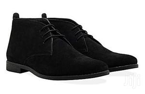 Suede Desert Ankle Boots Black