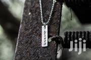 Sterling Silver Personalized Bar Necklace | Jewelry for sale in Greater Accra, Dansoman